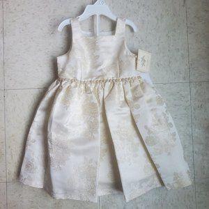 Laura Ashley London Girls Toddler Dress Gold